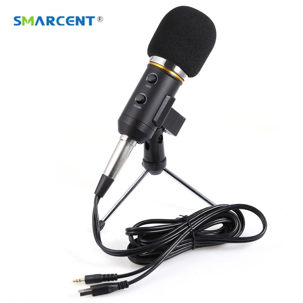 все цены на SMARCENT MK-F200FL Condenser Microphone Professional Wired Desktop USB Microphone Stand With Tripod For Computer Karaoke Studio онлайн