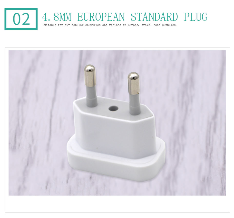 1PC US To EU Plug USA To Europe Travel Wall AC Power Plug Safety Door Design Charger Outlet Adapter Converter 2 Round Pin Socket (6)