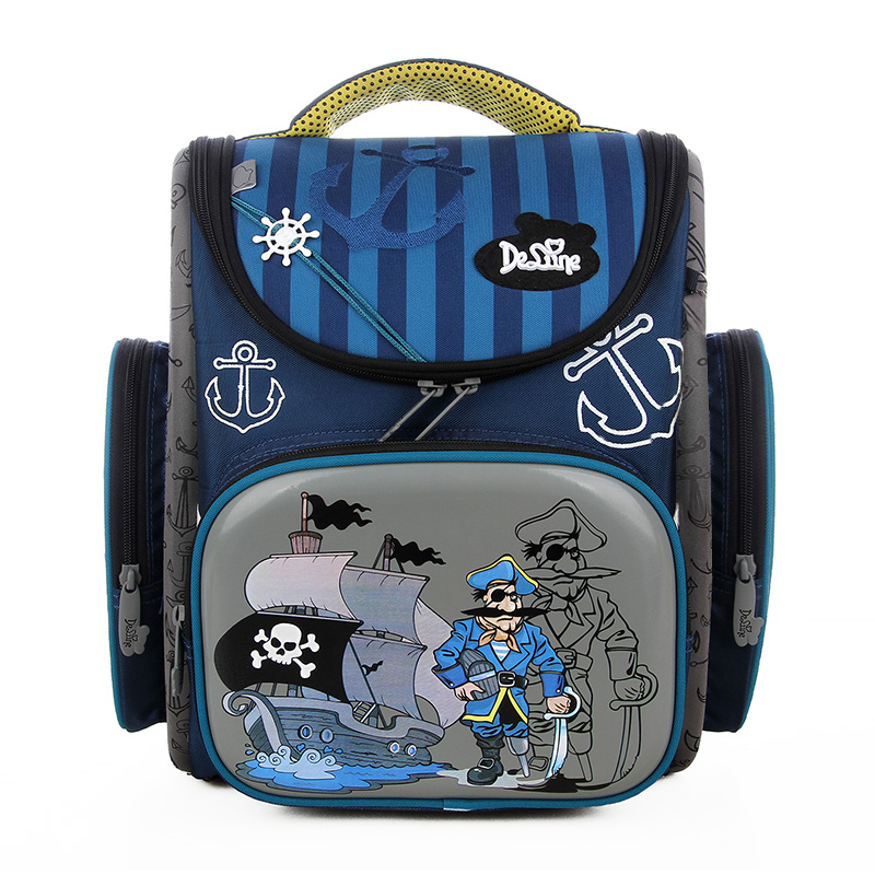 Delune School Bag  Children Backpack High Quality 3D Print School Bags for Boys Girls Child Bags Primary School Backpacks  high end kocotree ergonomic elementary school bag books child children backpack portfolio for girls for class grade1 3 free ship