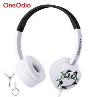 Oneodio Children Headphones Cute Cartoon Panda Child Earphone 3 5mm Wired Headband Headset For Kids Boys