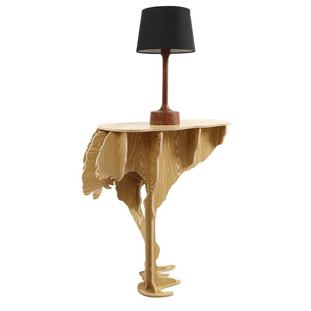 O envio gratuito de estilo Nórdico Europeu criativo tabela de avestruz creative home decor hotel restaurant cafe decoração