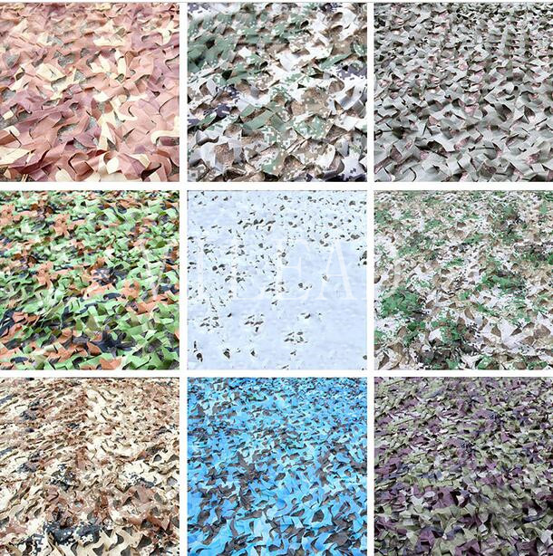 VILEAD 9 Colors 2.5M*5M Camouflage Net Army Mesh Camo Net For Party Decoration Hallowmas Decor Paving Mosaic Outdoor Shade vilead 9 colors 2 5m 8m forest camouflage net camo net invisible camo net army covert net for snipers party theme decoration