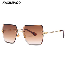 Kachawoo womens rimless sunglasses ladies metal gradient len