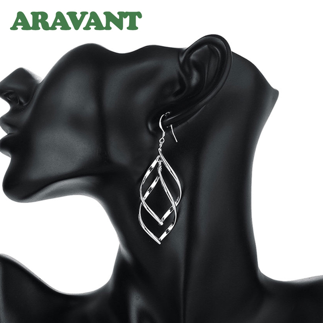 New Arrival 925 Silver Jewelry Women High Quality Long Earrings Hanging Drop Earring Jewelry
