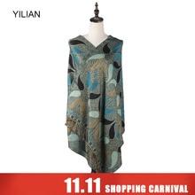hot deal buy yilian brand classic print paisley creative graphics women scarf multicolor warm fashion women head scarf shawl ll007