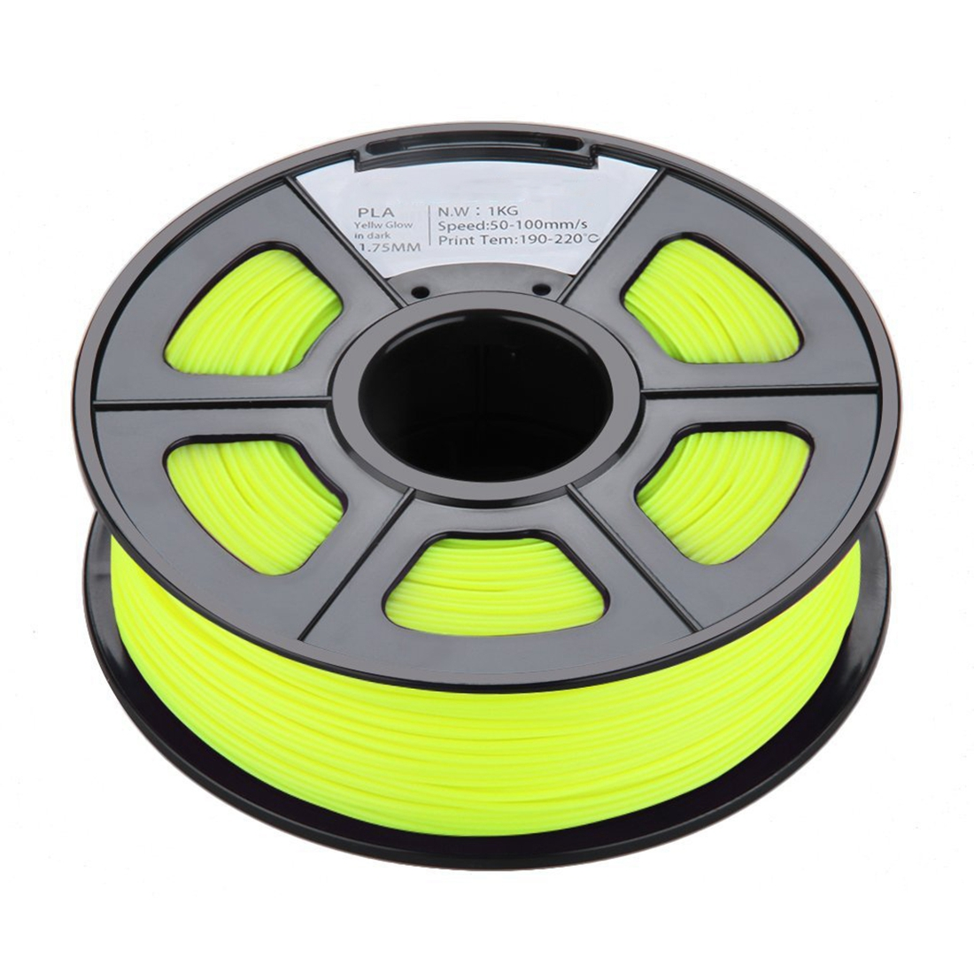New 1.75mm Glow in the Dark PLA 3D Printer Filament - 1kg Spool (2.2 lbs) - Dimensional Accuracy +/- 0.02mm (Yellow) flsun 3d printer big pulley kossel 3d printer with one roll filament sd card fast shipping