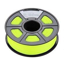 New 1.75mm Glow in the Dark PLA 3D Printer Filament – 1kg Spool (2.2 lbs) – Dimensional Accuracy +/- 0.02mm (Yellow)