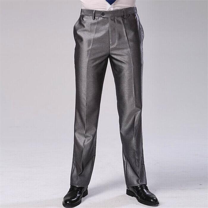 Мужские брюки, два цвета, Формальное деловое платье, брюки больших размеров, облегающие брендовые Дизайнерские Длинные обтягивающие брюки, CBJ-F1317 - Цвет: silver grey