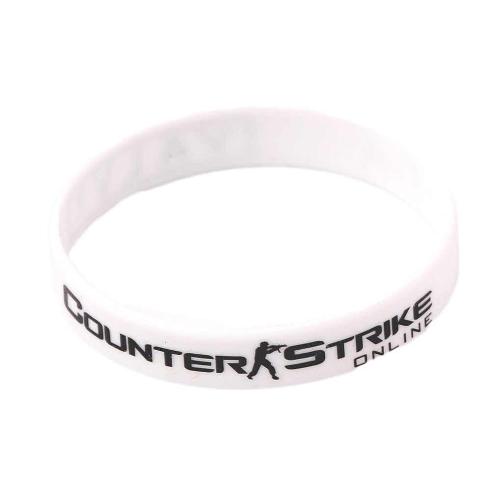 Csgo Counter Strike Braclet красный желтый белый крест огонь Braslet для мужской игры CS GO силиконовые резиновые браслеты для диабета