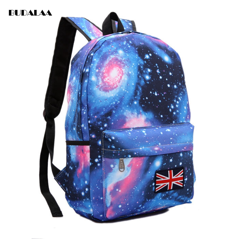 Budalaa Best Brand 100% Real Soft Canvas Sky Backpack Bag Strap Laptop Bag Waterproof Backpacks For School Teenager Fashion