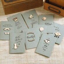 Девять дополнительных изысканных рождественских поздравительных открыток возвращение в древние деревянные обрезки поздравительные открытки вечерние Пригласительные открытки