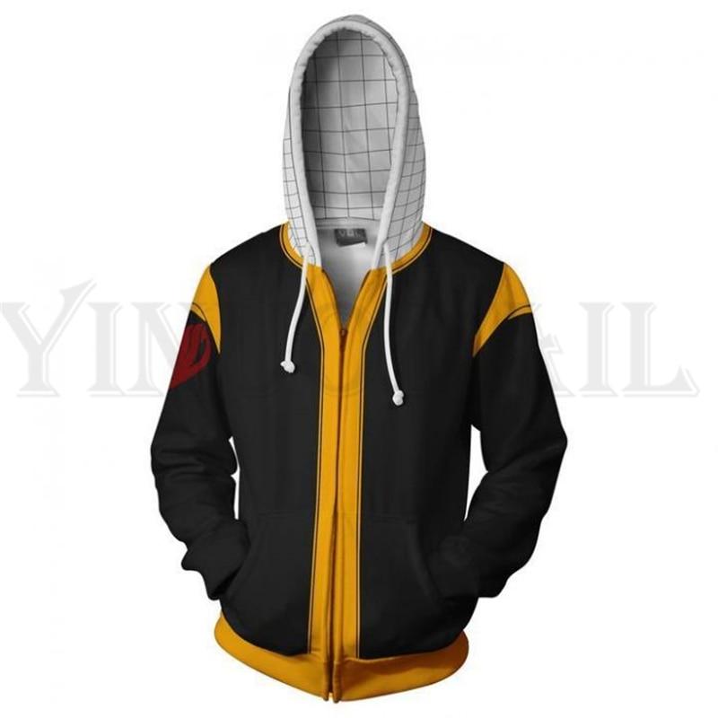 Anime Fairy Tail Sweatshirts Men and Women Zipper Hoodies Lucy 3d Print Hooded Jacket for Boys Heatblast Harajuku Streetwear
