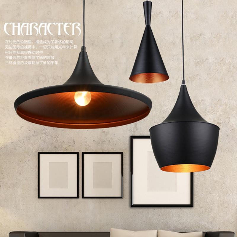 Винтажные подвесные светильники белый/черный цвет абажур Лофт стиль кухня-столовая светильник suspendu Pully подвесной светильник в стиле ретро