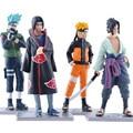 4 pcs Naruto figuine conjunto 11 cm 2016 New Naruto sasuke kakashi Uzumaki Naruto figura brinquedos Decoração Gift Collection figurarts