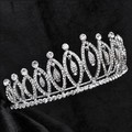 Estilo Oval Rhinestone Crystal Tiara Celada de Novia De La Boda Head Crown 1049