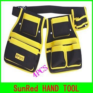 Tool Parts Able Bestir 4pcs Tool Pouch Set Waist Bag Tools Hand Bag Oxford Composite Material No.05144 Wholesale And Retail Freeshipping Less Expensive