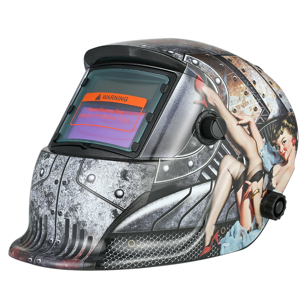 Industrial Welding Helmet Solar Power Auto Darkening Welding Helmet TIG MIG with Adjustable Head Band