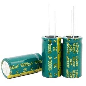 Image 1 - 100 шт. ~ 20 шт. 25V10000UF 10000 мкФ 25V высокочастотные низкостойкие электролитические конденсаторы размером: 18*35 мм, лучшее качество, новинка origina