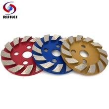 цена на RIJILEI 100mm Diamond grinding wheel 4inch Diamond Grinding Cup disc Marble Abrasive pad for concreter floor Polishing pads HC03