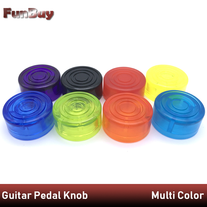 10pcs Footswitches Electric Guitar Effect Pedal Foot Nail Cap Amplifiers Candy Color Foot Switch Toppers Knob Accessories