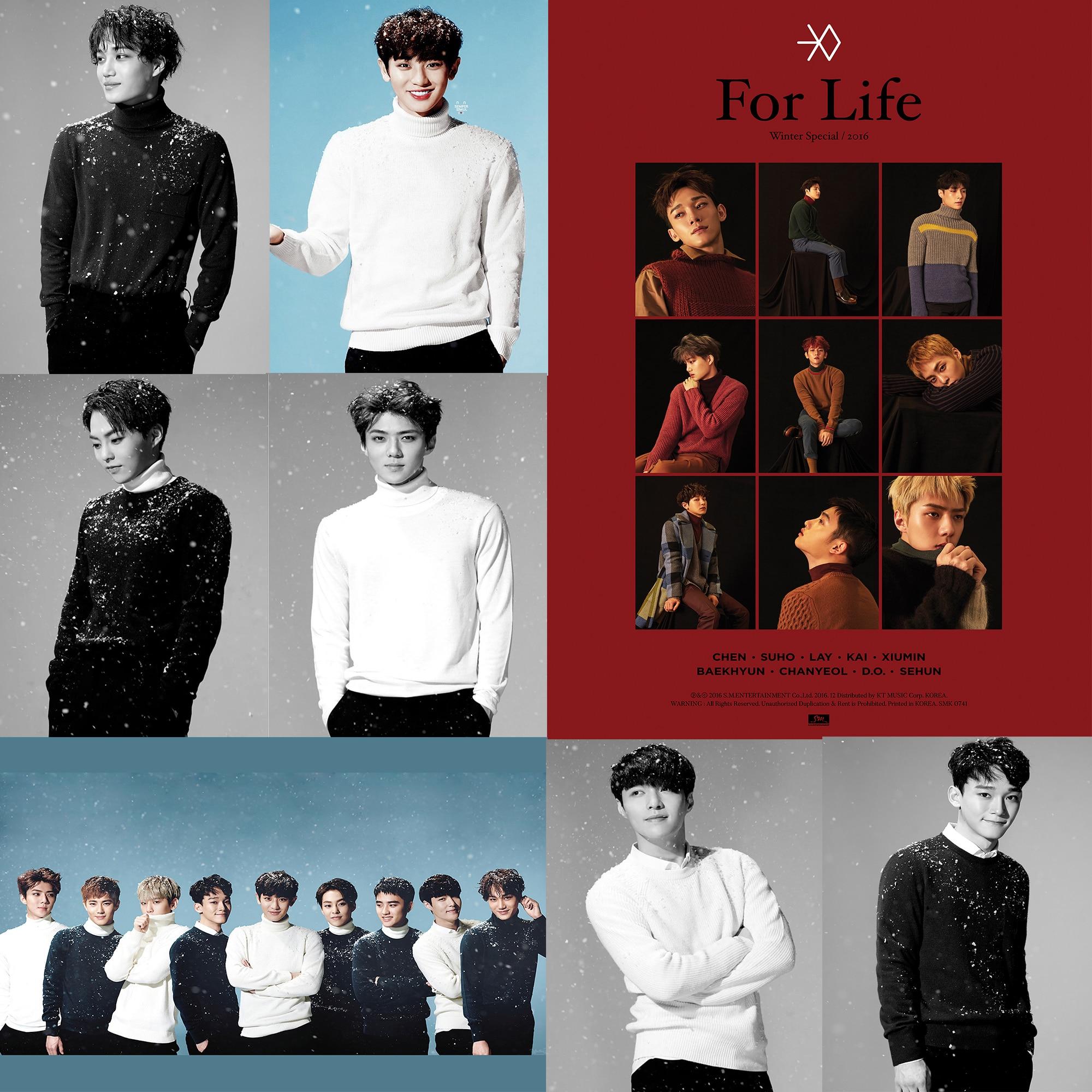 34 Baekhyun Photo Card K-POP Exo-K Winter Album Sing For You Korean Ver
