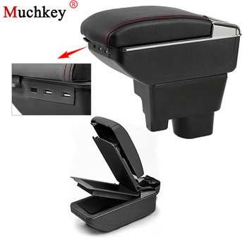 Car USB Armrest Box For Geely MK 2009 To 2013 Car Center Storage Box With Cup Holder Ashtray Stowing Tidying Arm Rest Rotatable