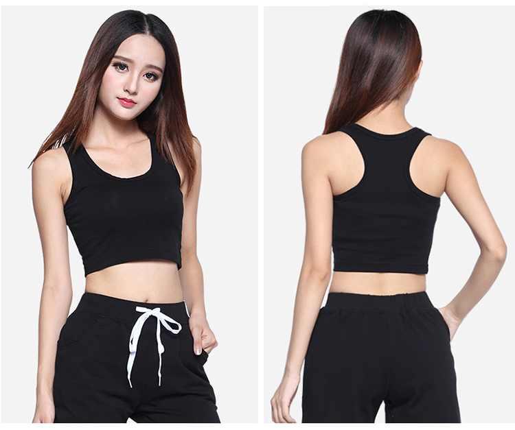 2020 夏スタイルなクロップ女性ノースリーブフィットネススキニーパンツタンククロップトップス半袖ベストブラウス Tシャツ女性プラスサイズ