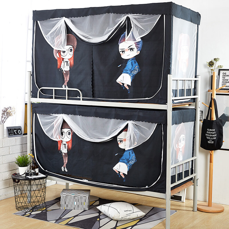 LeRadore New Mosquito Net for Dorms With Blackout Curtain Polyester Bunk Bed Insect Nets for Single Bed Moustiquaires Free Ship