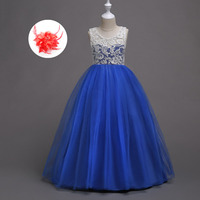 Red Pink Mint Evening Girl Formal Wedding Evening Dresses for Little Girl Teenagers 5 To 12 13 14 15 Years Royal Blue Ball Gowns