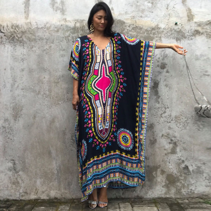 ca47039b6 US $14.2 22% OFF|PLus size online shopping india ethnic dress moroccan  clothing india summer dress casual vestidos femininos black blue yellow-in  ...