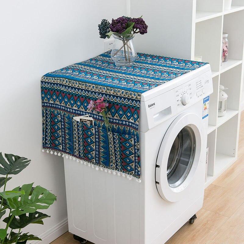 Геометрическая стиральная машина Пылезащитная Крышка для кухонного холодильника пылезащитные чехлы с сумкой для хранения чистящие аксессуары чехол - Цвет: I