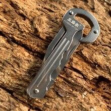 цена на Sanrenmu 4118 Mini Key Knife Multi-functional Pocket Folding Knife EDC Key Chain/Ring Outdoor Camping Tool Bottle Opener