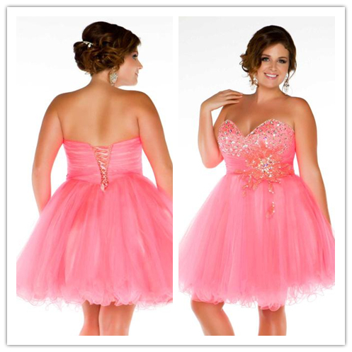 Free Shipping Cd 547 Strapless Silhouette Junior Plus Size Cocktail