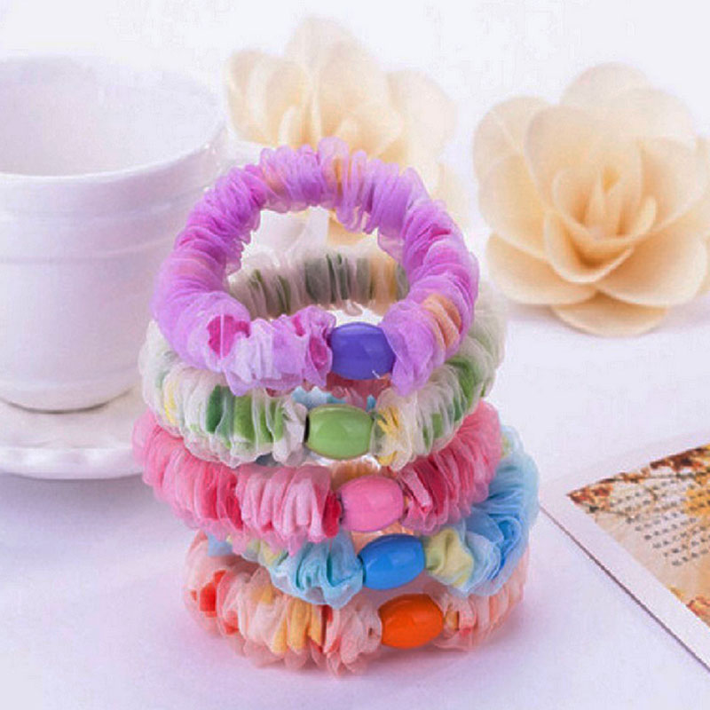 5Pcs Rubber band Hair Accessories Hair Ties Rope elastic band elastico de cabelo Hair Ornaments Headhands For Women And Girls ...