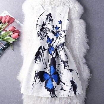 9ba639f13abcf39 MUQGEW/Новое модное Летнее Детское платье без рукавов для маленьких девочек  вечерние платья принцессы без рукавов с принтом бабочки