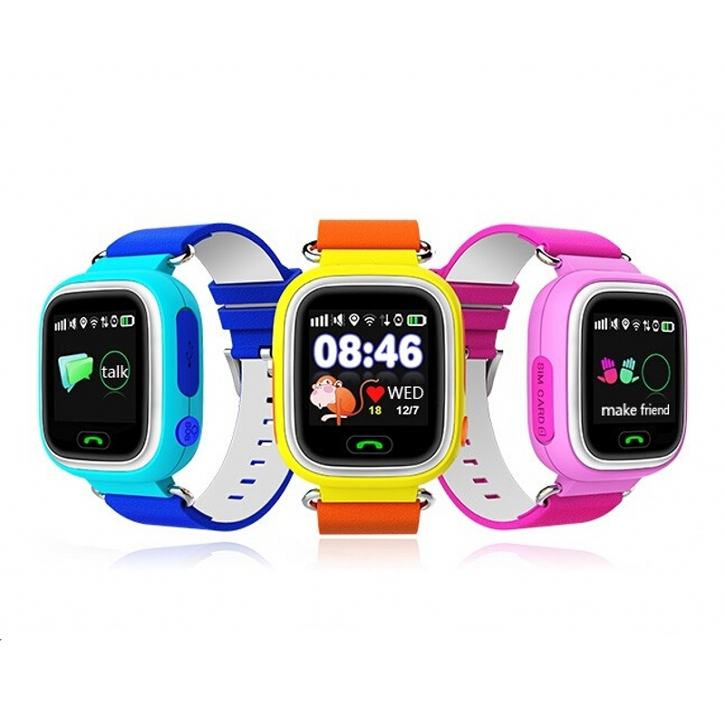 HESTIA GPS Q90 Touch Screen WIFI Positioning Smart Watch SOS Call Location Finder Device Tracker Kid