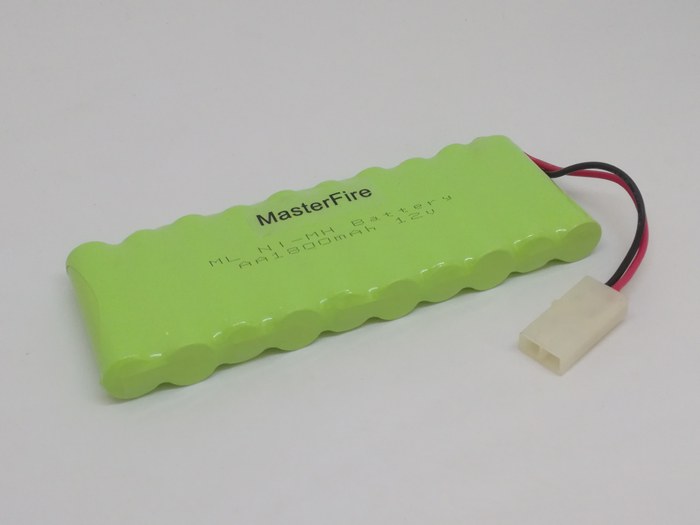 MasterFire Brand New <font><b>12V</b></font> 1800MAH <font><b>AA</b></font> Ni-MH Rechargable <font><b>Battery</b></font> NiMH <font><b>Batteries</b></font> <font><b>Pack</b></font> with plug image