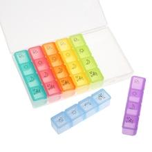 28 слотов для хранения коробка Портативный еженедельно лекарства для таблеток 7 дней 4 раза в день контейнер для таблеток
