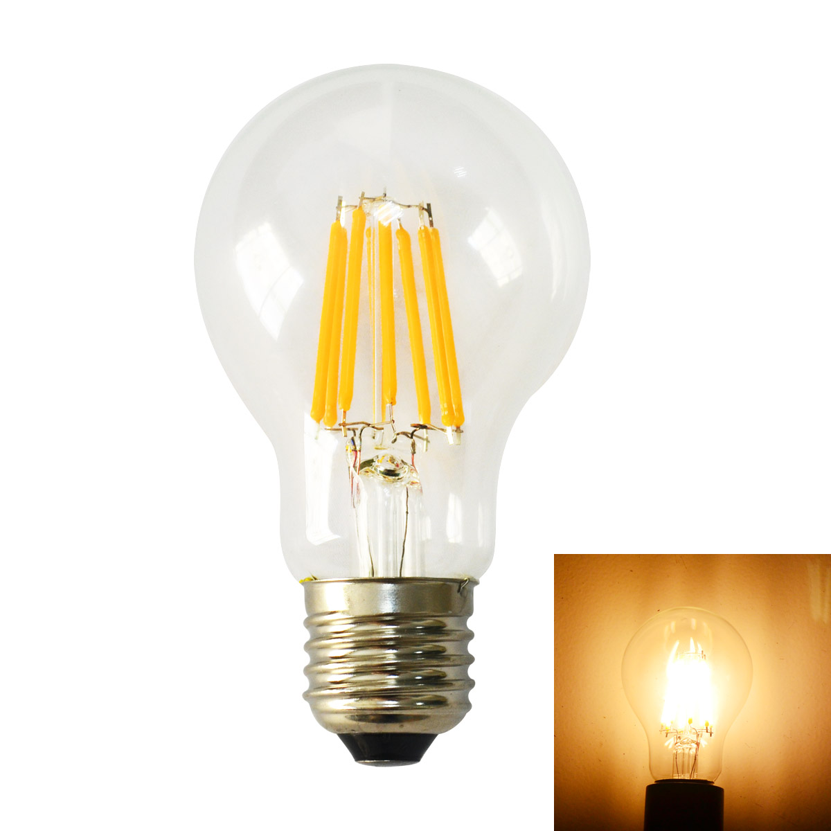 jiawen 8w 2700k warm white dimmable edison style led filament bulb ac220 240v in led bulbs. Black Bedroom Furniture Sets. Home Design Ideas