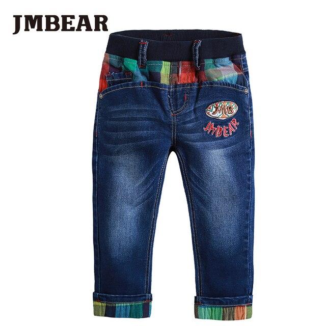 JMBEAR мальчиков джинсы длинные длина джинсовые брюки детская одежда 2016 новых осенью мода 3-6years