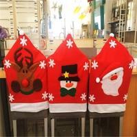 2pcs Lot Christmas Chair Cover 65 50cm Santa Claus Decorations Navidad Adornos For Dinner Chair Home