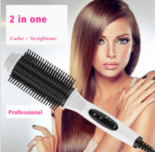 2IN1 straightening comb straightening irons Flat Iron Hairbrush Fast Electric brush comb hair straightener Styling TOOL Curler