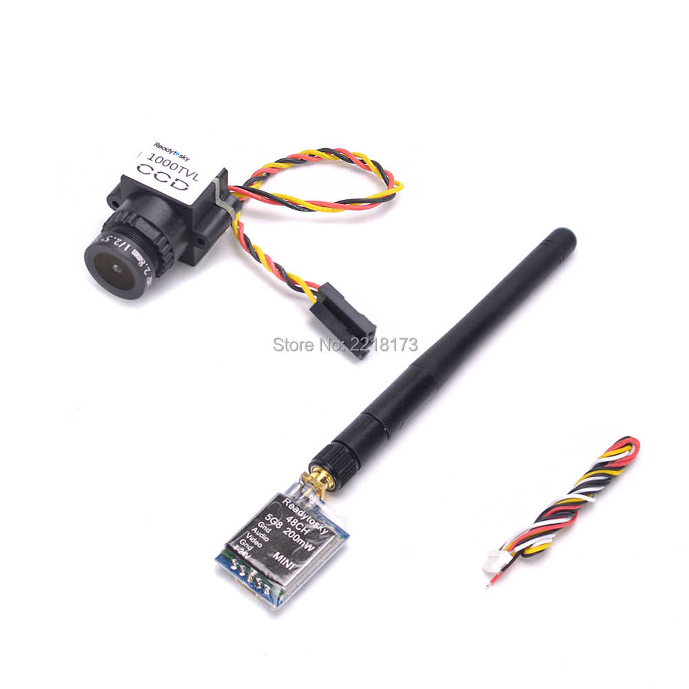 1000TVL CCD 1/3 110 Derajat 2.8 Mm Lensa Kamera Mini NTSC Pal Switchable TS5823 48CH 48 TV 200 MW untuk FPV Mini Drone