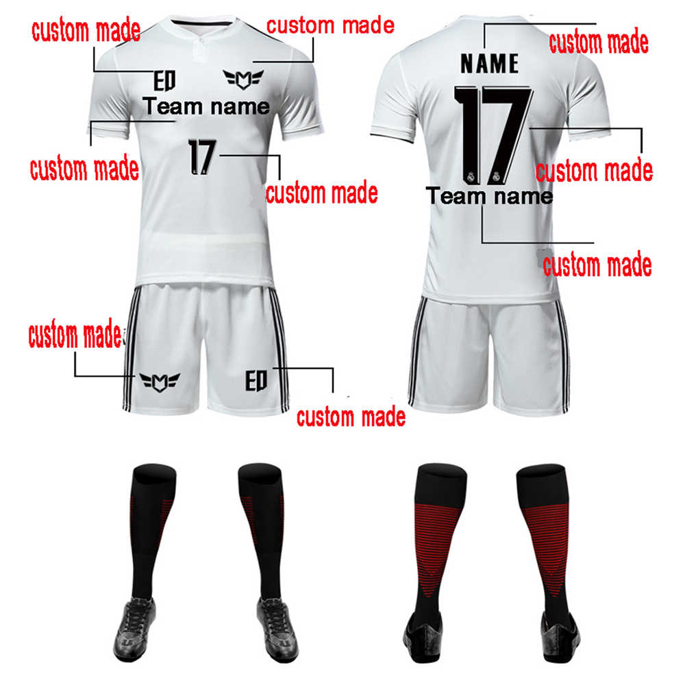2019 2020 Survetement ฟุตบอลฟุตบอลชายเสื้อ DIY ชื่อหมายเลขเสื้อฟุตบอลเสื้อ CUSTOM ทีมฟุตบอล Jerseys