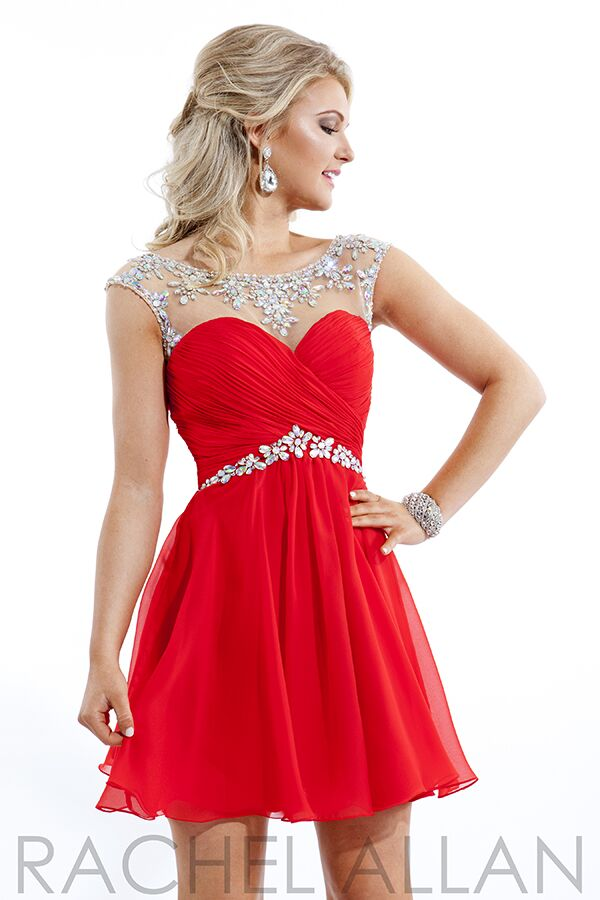Prom Dress Red Short Promotion-Shop for Promotional Prom Dress Red ...