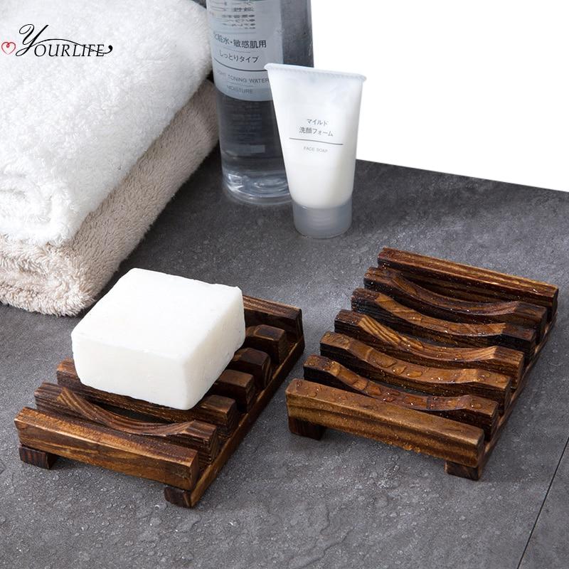OYOURLIFE деревянный поднос для мыла, с резкостью от плесени и натуральной карбонизации, держатель для ванной комнаты дренаж для мыла, чехол льница, аксессуары для ванной комнаты|Портативные мыльницы|   | АлиЭкспресс