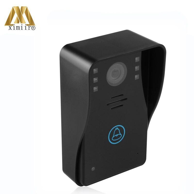 Gute qualität 7 inch farbe hände freies monitor IR kamera eins zu eins video intercom system 802MJ11 wired video tür glocke - 5