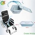 Marco de acero Plegable Ligera silla de Ruedas Manual Handpower Con Corte de Asiento Con ISO/TUV/CE Certificado