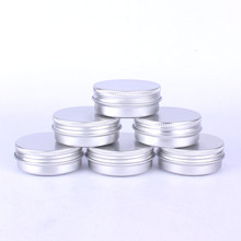 Tin box Refillable Containers 30ml Aluminum Cosmetic Small Tins Storage Jars Empty Cosmetic Screw Top Sample Containers(China)