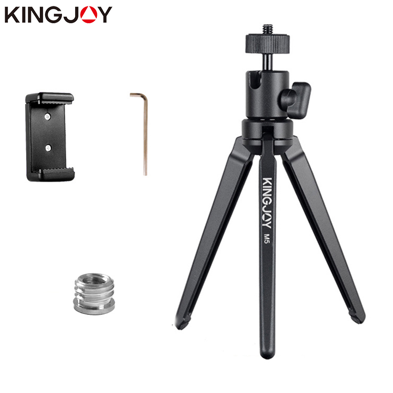 KINGJOY Officia KT-30/M5 Aluminum Mini Tripod For Phone Camera Stand With Ball Head Mobile Smartphone Holder Tripod Flexible